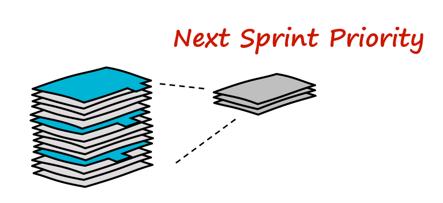 work pile, next sprint priority