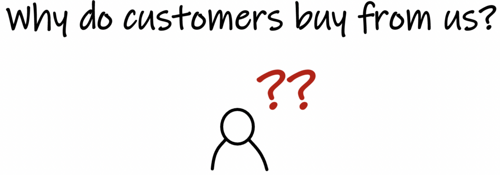 Why do customers buy from us?