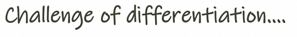 challenge of differentation