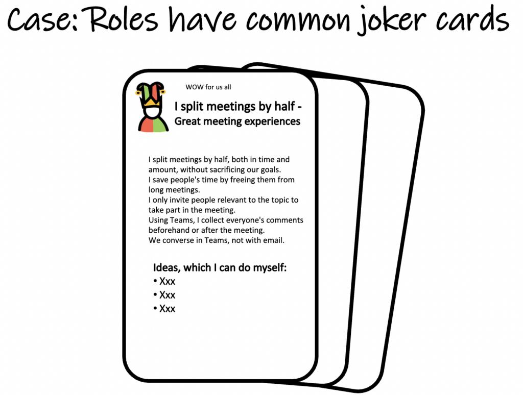 Case: Roles have common joker cards