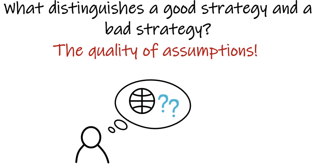 what distinguishes a good strategy and a bad strategy?