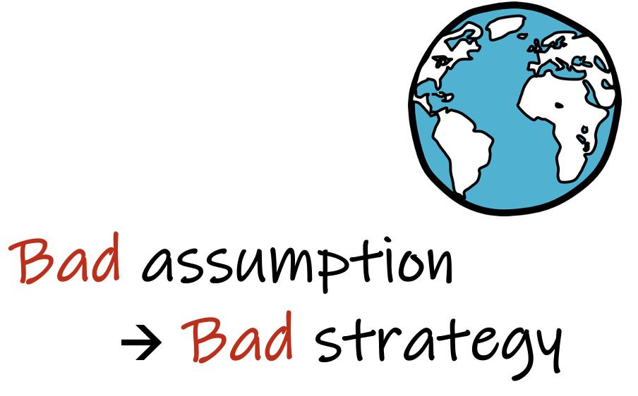 bad assumption, bad strategy