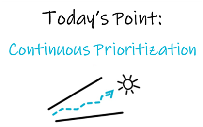 Continuous Prioritization
