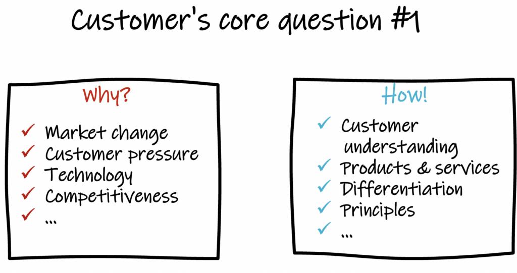 Customer's core question #1