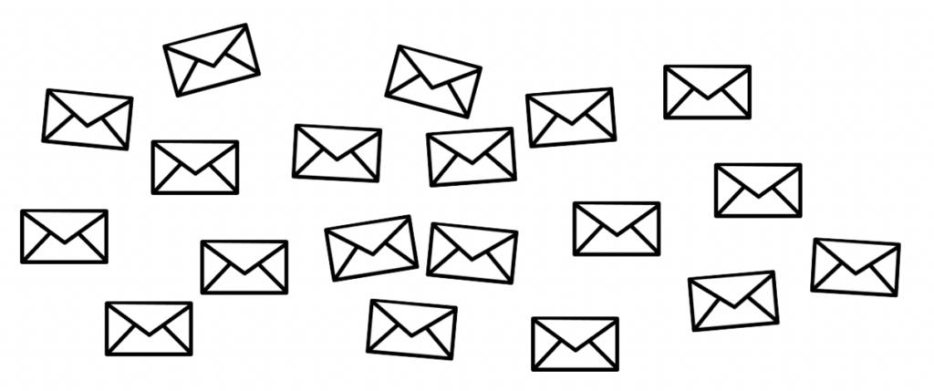 unorganized emails