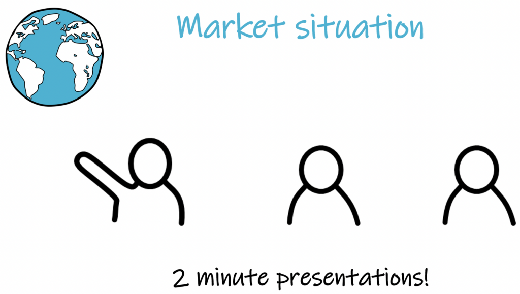 market situation, 2 minute presentations