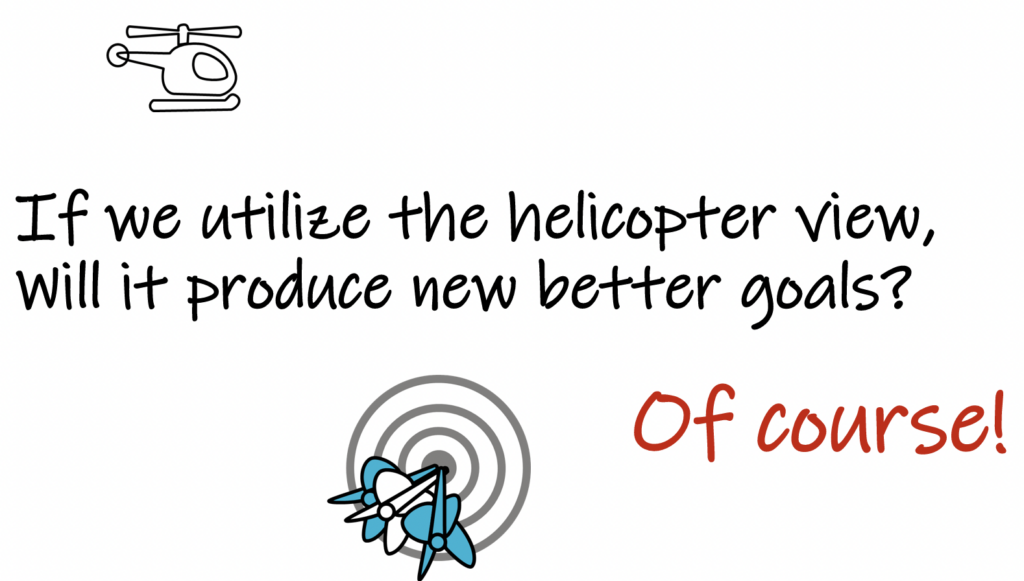 if we use the helicopter view, will it produce better goals?