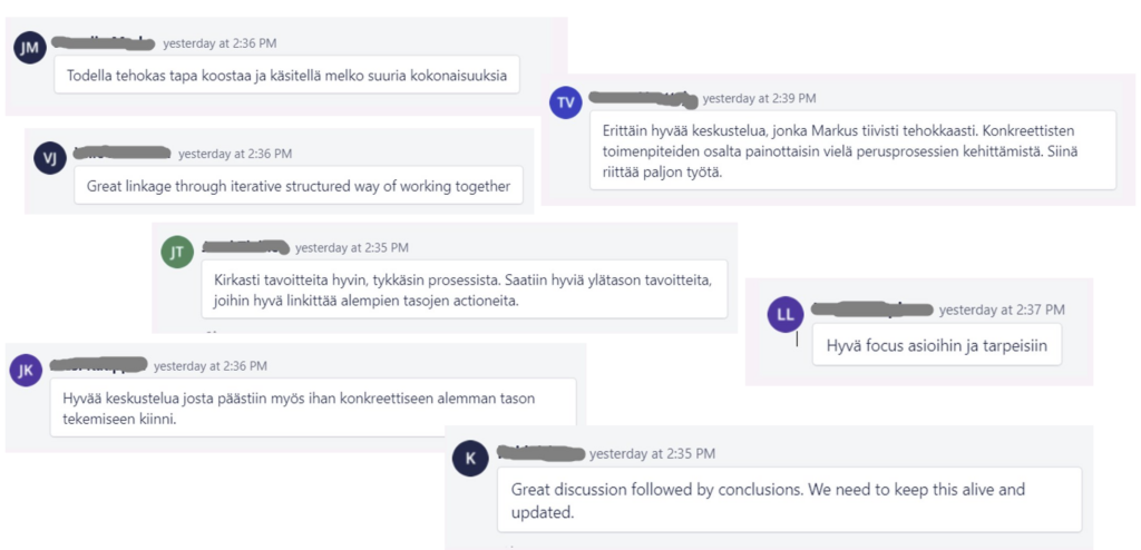 what did people have to say? comments in finnish and english