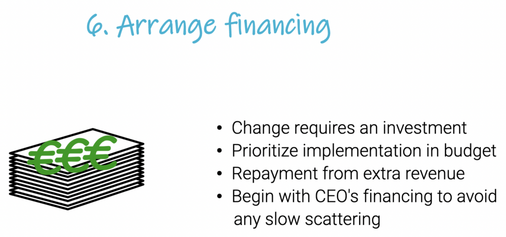 arrange financing